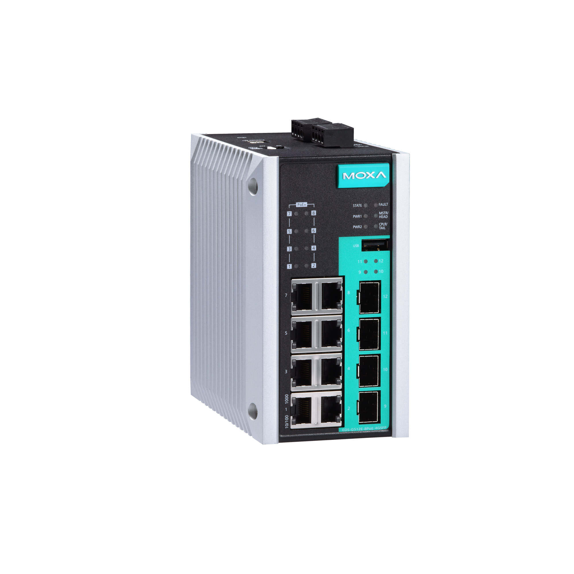 moxa ethernet switch EDS-G512E-8PoE-4GSFP PoE Managed Switch