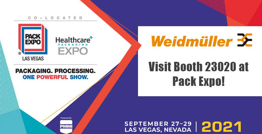 Visit Weidmuller booth at pack expo