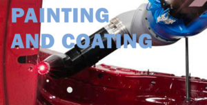 robot Painting and coating automobile