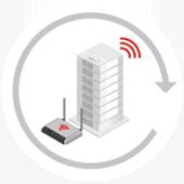 Verizon building and modem